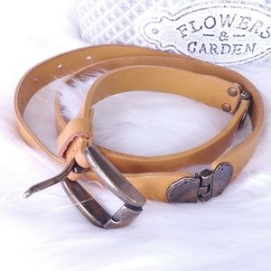 Anthropologie Leather Yellow Belt